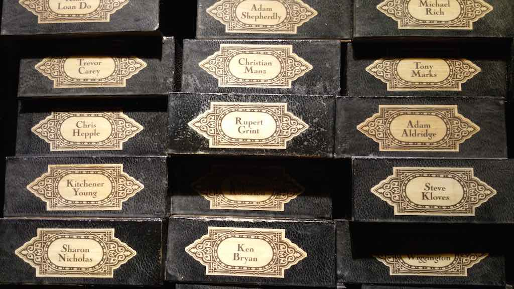 Warner Bros. Studio Tour London - The Making of Harry Potter - End of Tour Wands of Casts
