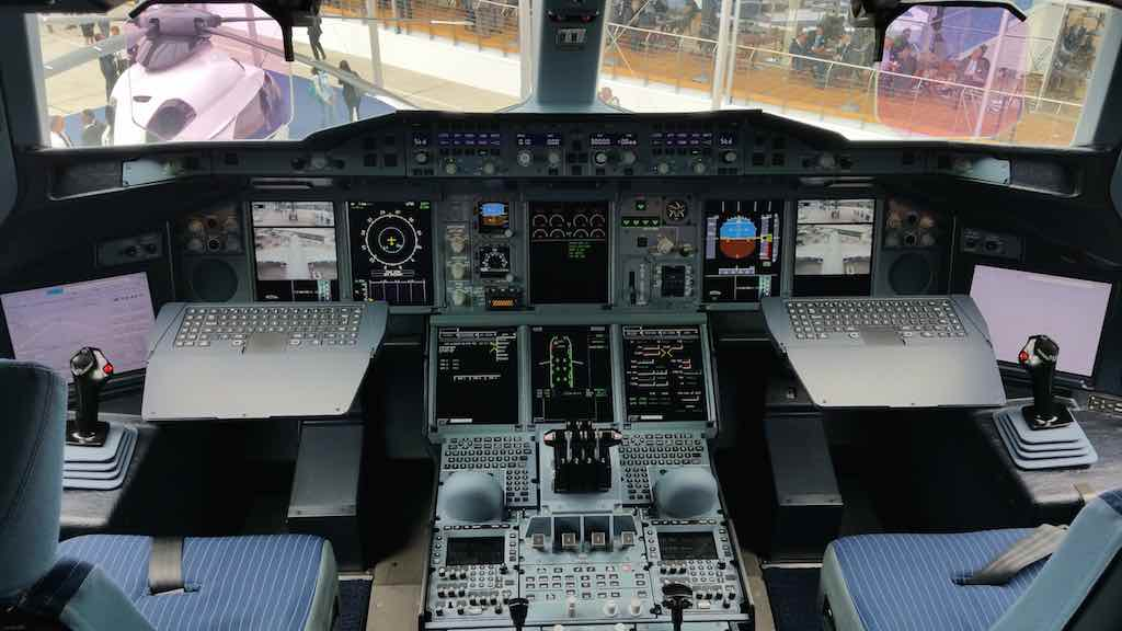 Qatar Airways (QR) Airbus A380 Cockpit