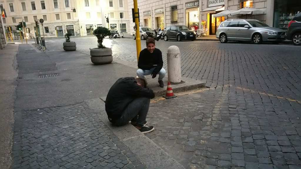 Drunk guy on way to Vatican CIty