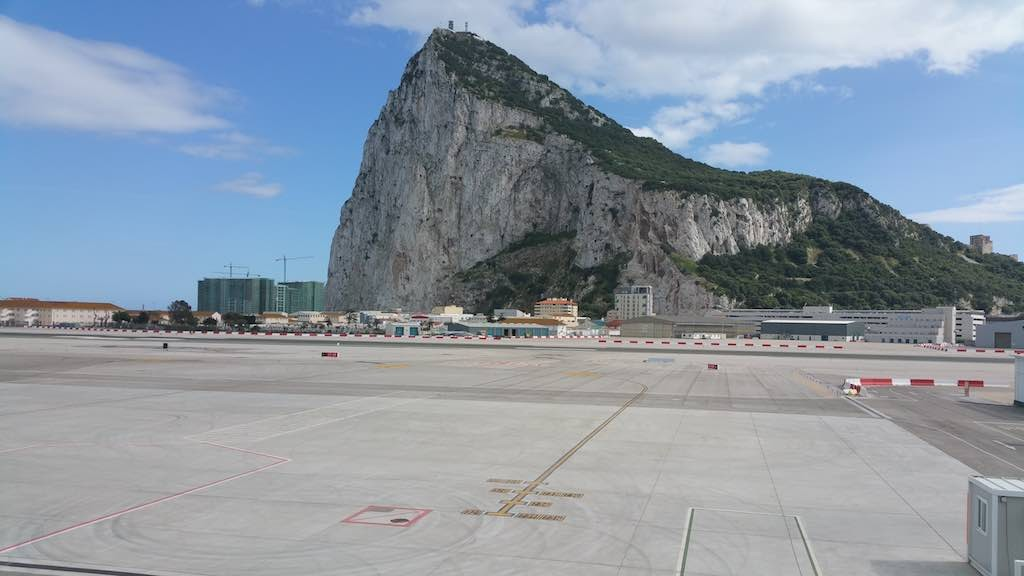 The Rock of Gibraltar from the airport