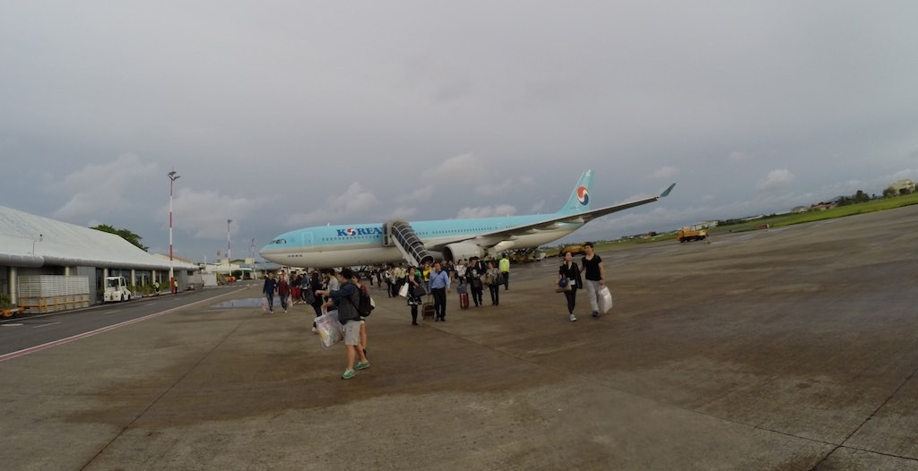 Korean Airlines (KE) Airbus A330 on the ramp in Male Airport (MLE)