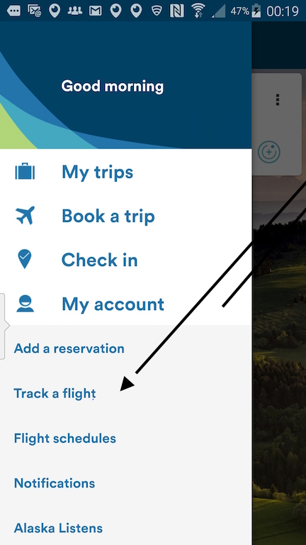 Alaska Airlines (AS) App: Standby list - Select Track A Flight