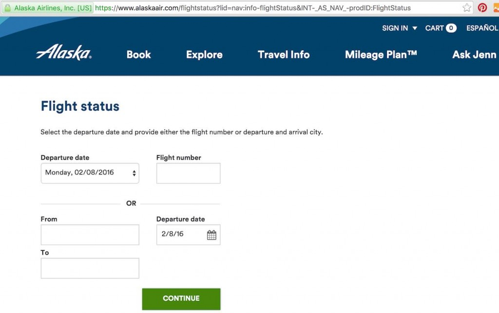 Alaska Airlines (AS) Stand by list - Website - Homepage
