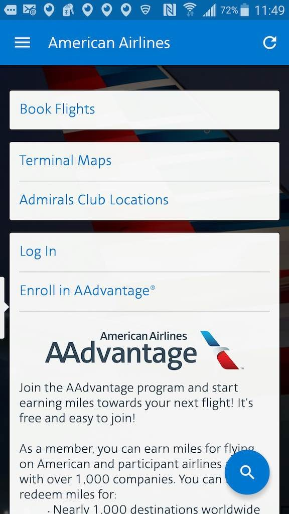 American Airlines - Flight Loads Mobile App