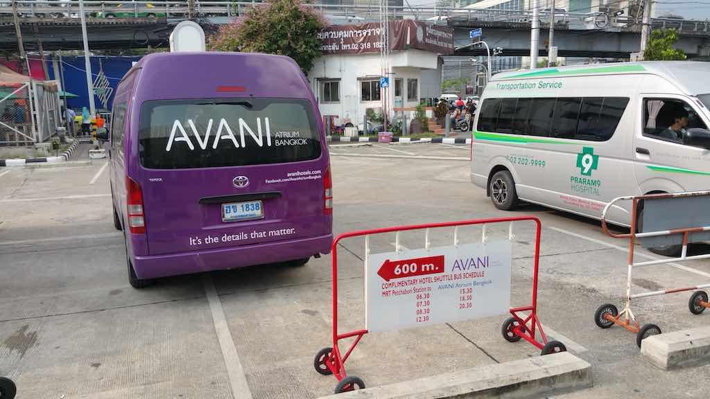 Avani Atrium Bangkok Shuttle at Makkasan Station