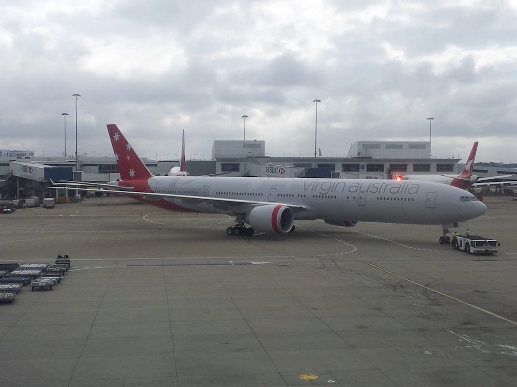 Virgin Australia's Boeing 777-300ER in MEL
