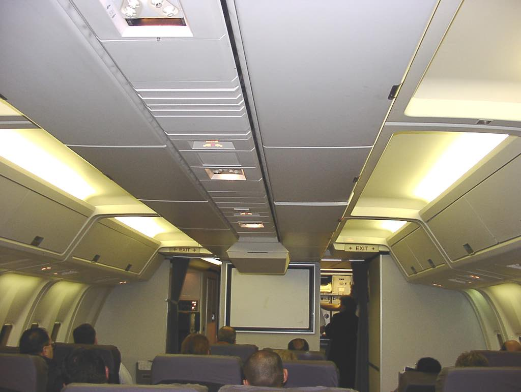 Nostalgia: TWA Terminal New York-JFK (JFK) - TWOne Business Class cabin on a Boeing 767-300