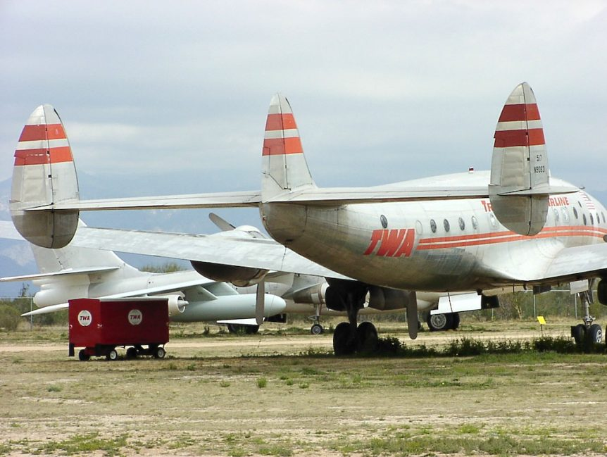 TWA Lockheed Constellation in Tucson, AZ