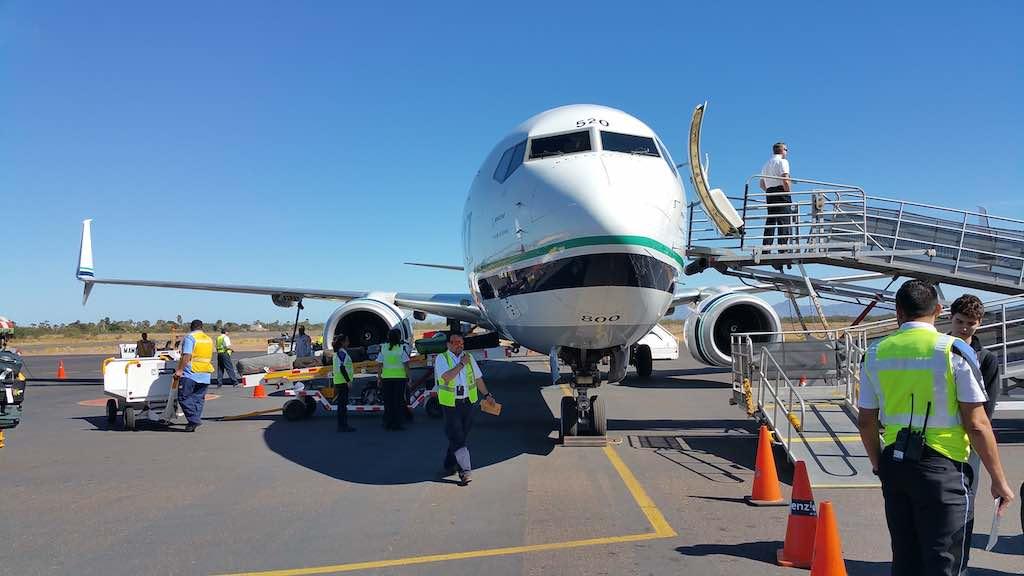 Villa del Palmar Loreto - Alaska Airlines Boeing 737-900ER in LTO Mexico