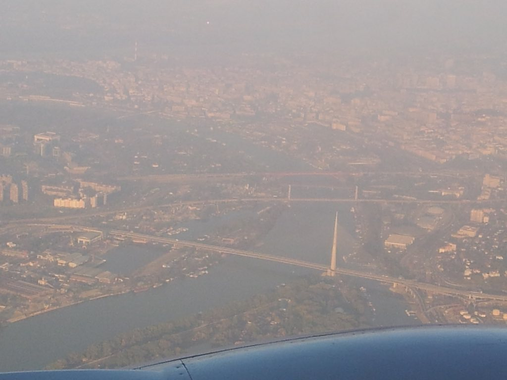 Belgrade, Serbia - flying over the city