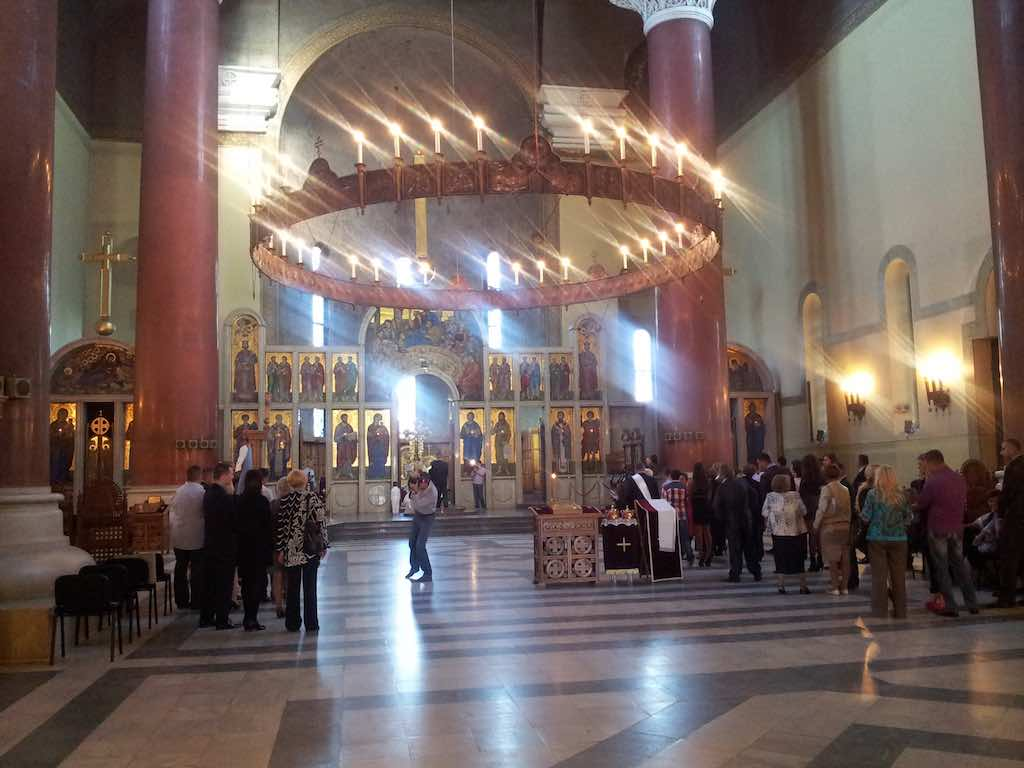 Belgrade, Serbia - Wedding at the Russian Orthodox Chruch