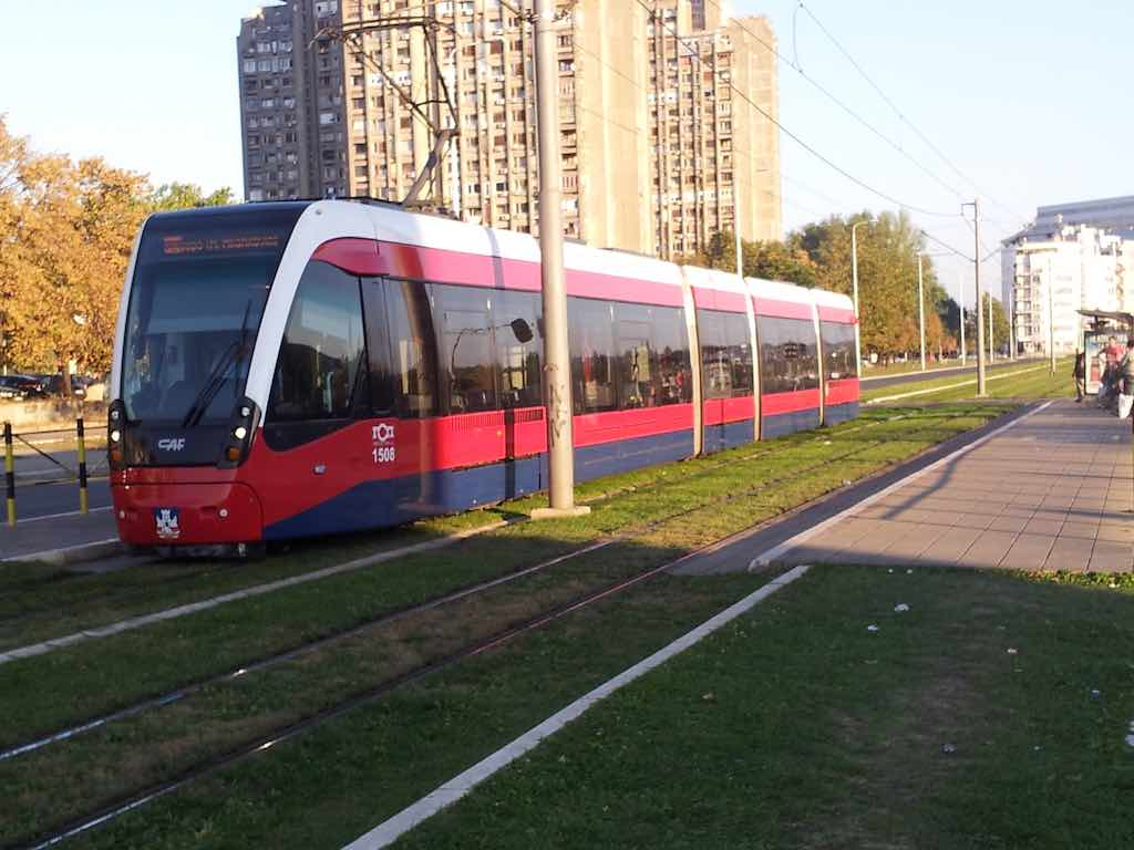 Belgrade, Serbia - new tram in city