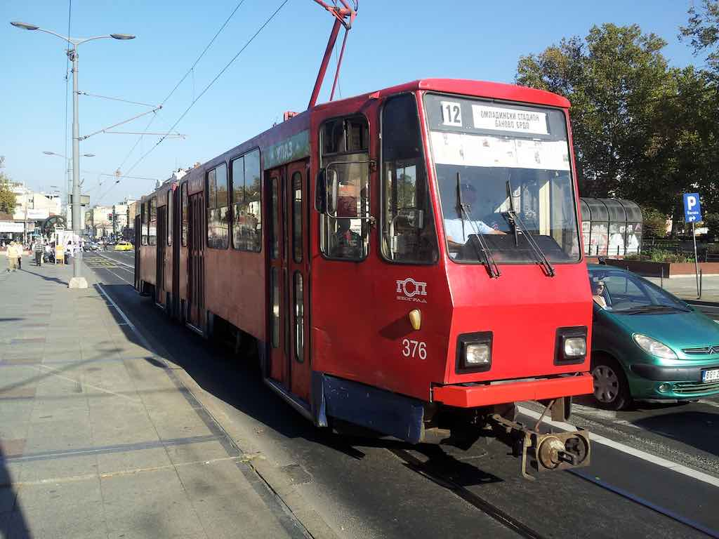 Belgrade, Serbia - old tram in city