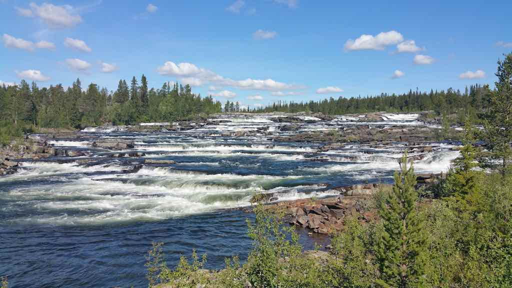Trappstegsforsen - I'm told the most photographed waterfalls in Sweden