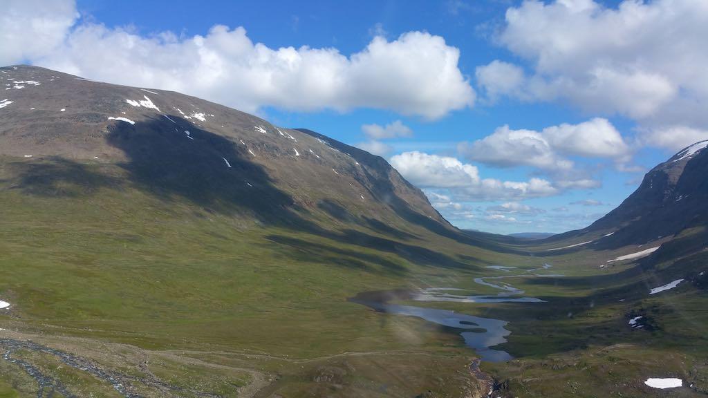 Hemanvan/Tarnaby - Kungsleden Trail from Above