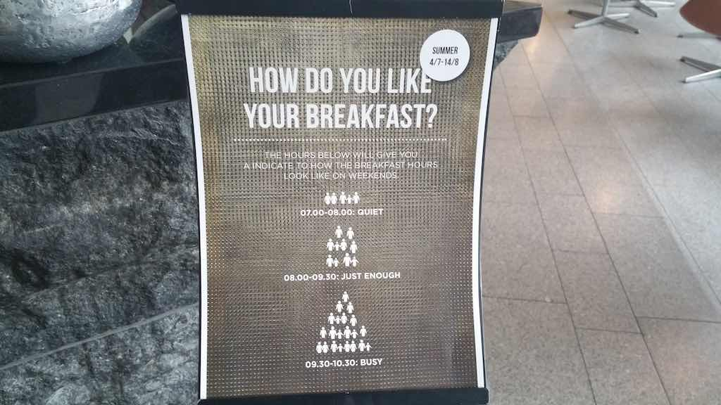 Choice Hotel Sign Stockholm - Breakfast sign