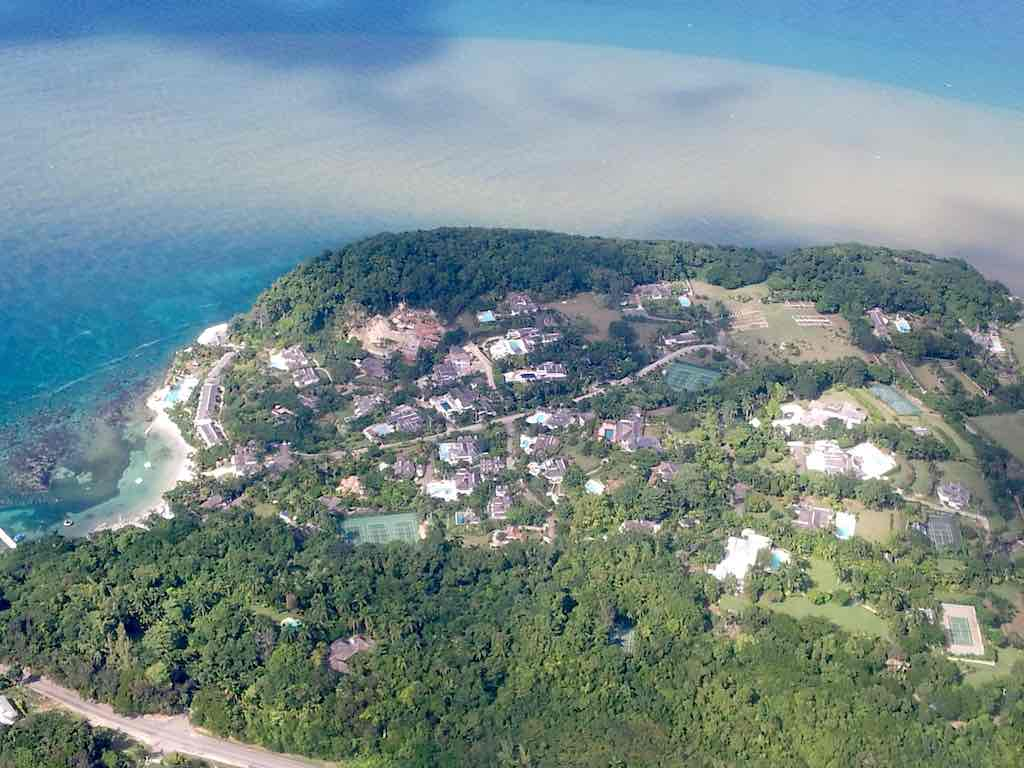 Aerial view of St. Lucea, Jamaica