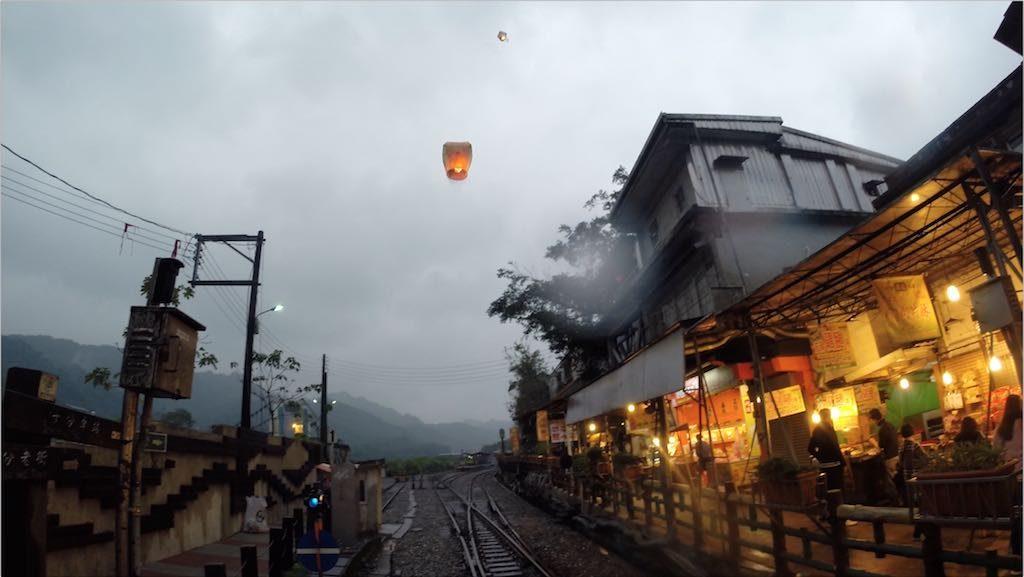 Sky Lanterns in Pingxi