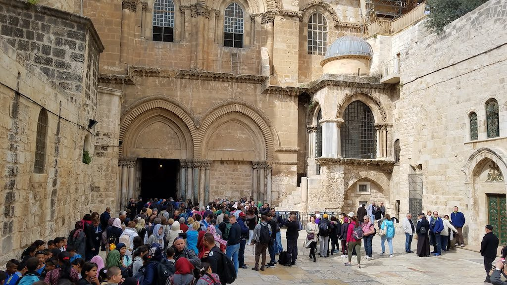Jerusalem, Israel - Old City Muslim Quarter, Church of the Holy Sepulcher