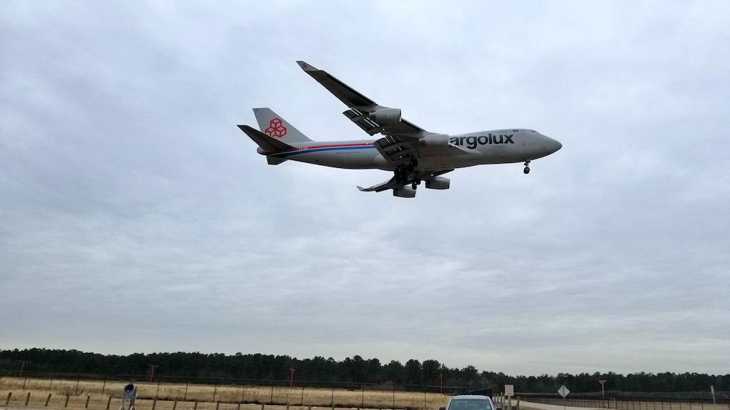 Cargolux Boeing 747-400 Freighter Landing at IAH on 20180118 at 14:48:15