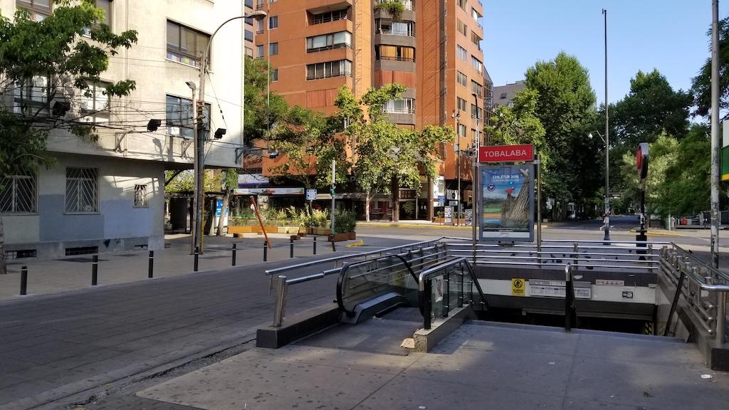 Tobalaba Train Station in Santiago, Chile