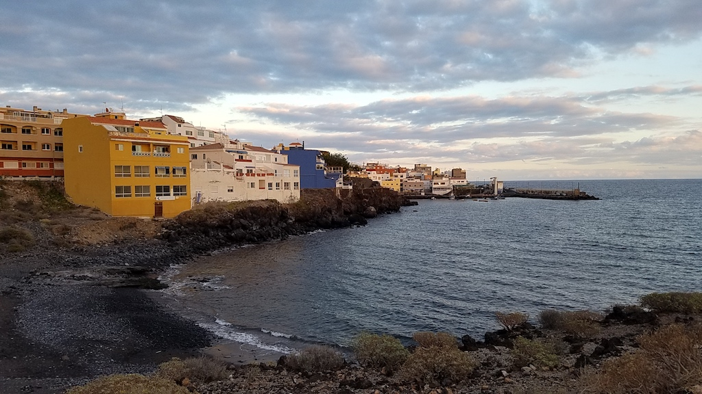Los Abrigos, Tenerife, Spain at sunset