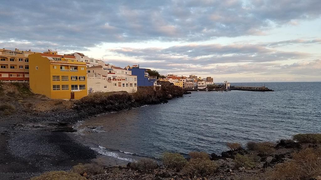 Los Abrigos, Tenerife, Spain at sunset