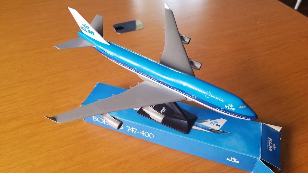 KLM Boeing 747-400 Model Airplane