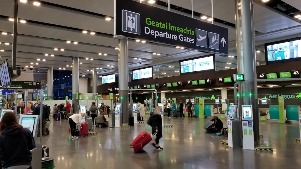 Dublin, Ireland - Aer Lingus Checkin Dublin Airport (DUB)