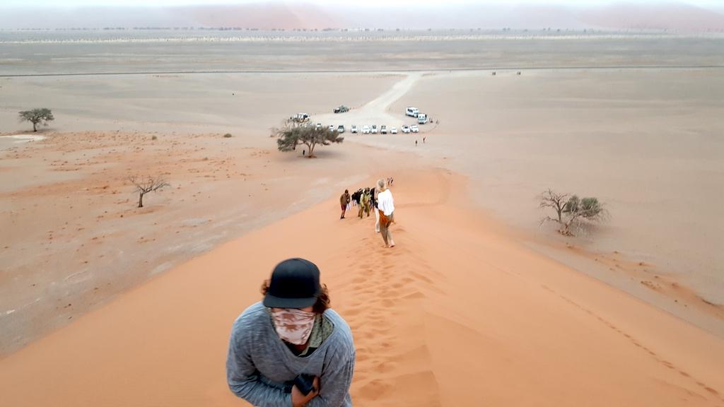 Wild Dog Safaris - Dune 45 Sossusvlei. Namibia - Parking lot to the Dune