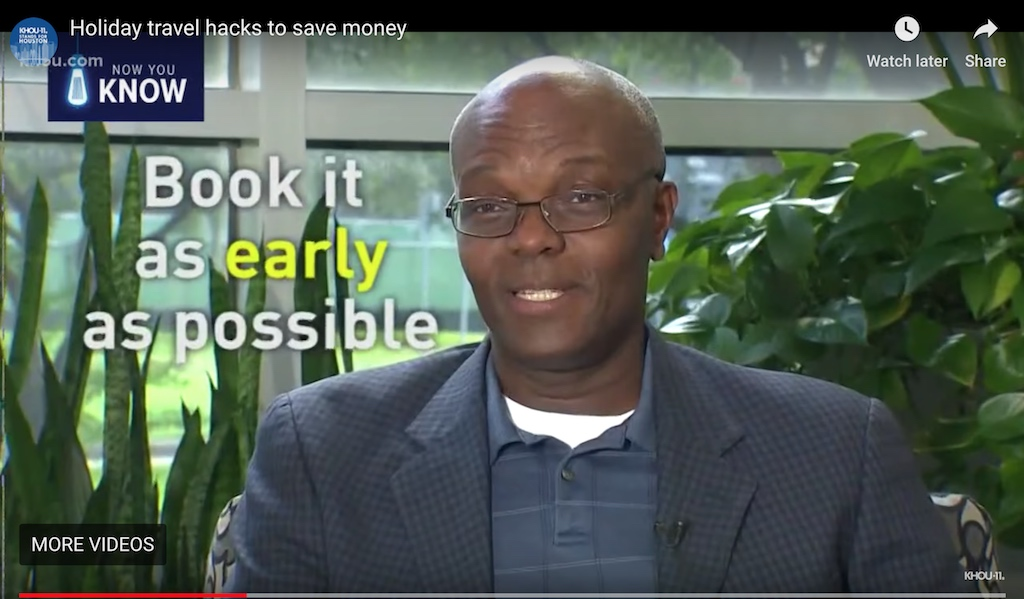 KHOU Local Houston TV Debut Kerwin McKenzie - Holiday Travel Tips