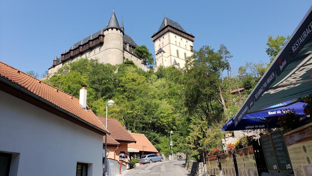 Karlštejn Castle - View from Village Shops