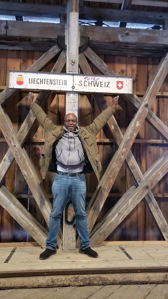 Vaduz, Liechtenstein - Alte Rheinbrücke Border of Liechtenstein and Switzerland