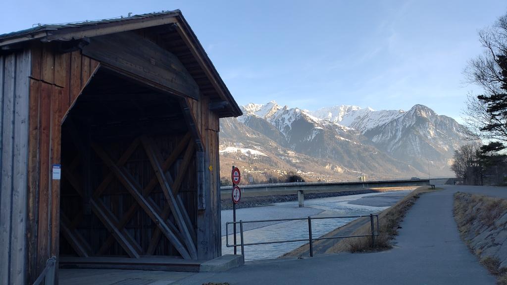 Vaduz, Liechtenstein - Alte Rheinbrücke Entrance