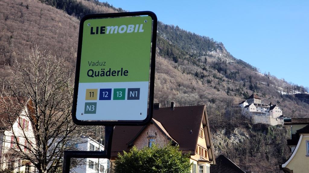 Vaduz, Liechtenstein - Quaderle Bus Stop