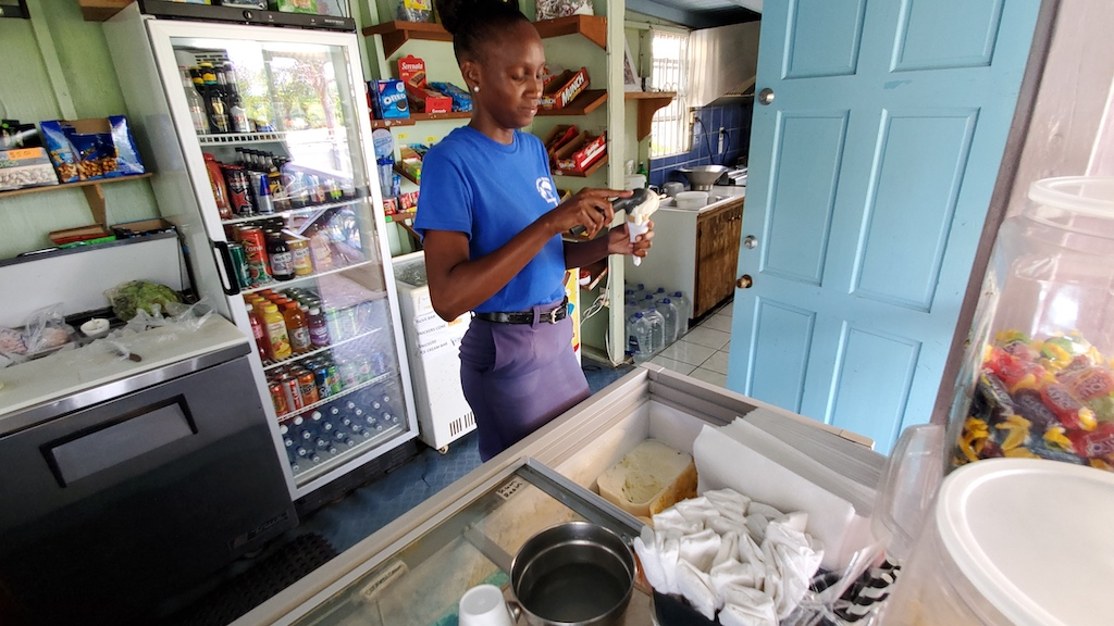 Antigua and Barbuda - Tropical Time Out Ice Cream in Willikes, Antigua