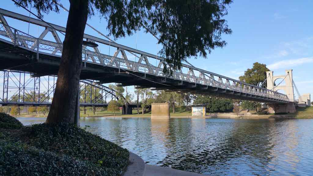 Unfamiliar Destinations - Waco, Texas USA - Waco Suspension Bridge