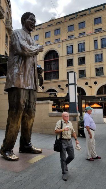 SandtonJohannesburg, South Africa - Nelson Mandela Square Statue