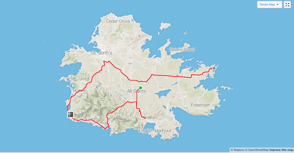 Antigua and Barbuda - Charles in Charge Tour Route