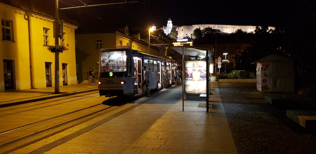 Bratislava, Slovakia - Bratislava Castle at Night