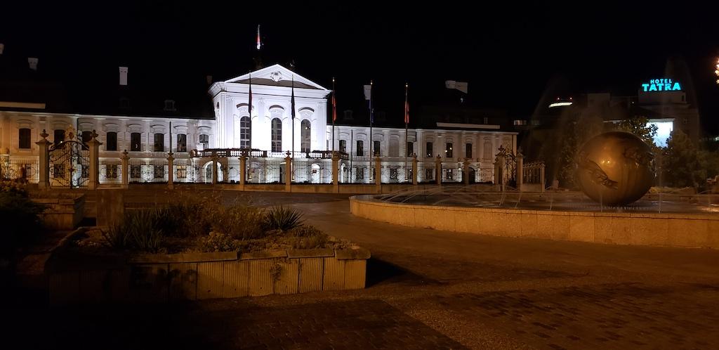 Bratislava, Slovakia - Grassalkovich Palace and The Hotel Tatra