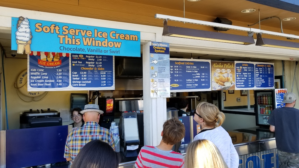 Mukilteo, Washington USA - Ivar's soft serve ice cream