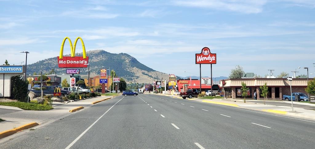 Helena, Montana - Main Drive Food places