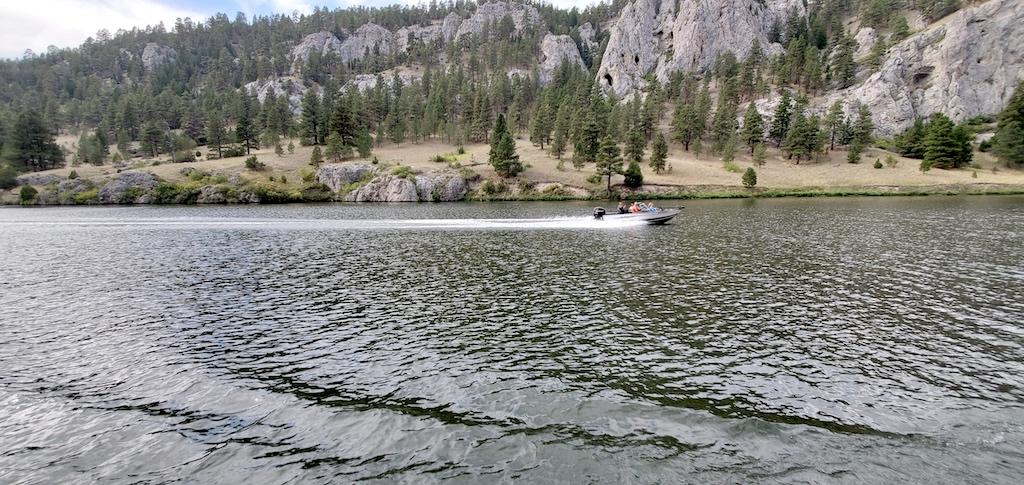 Speedboat at Gates of The Mountains near Helena, Montana