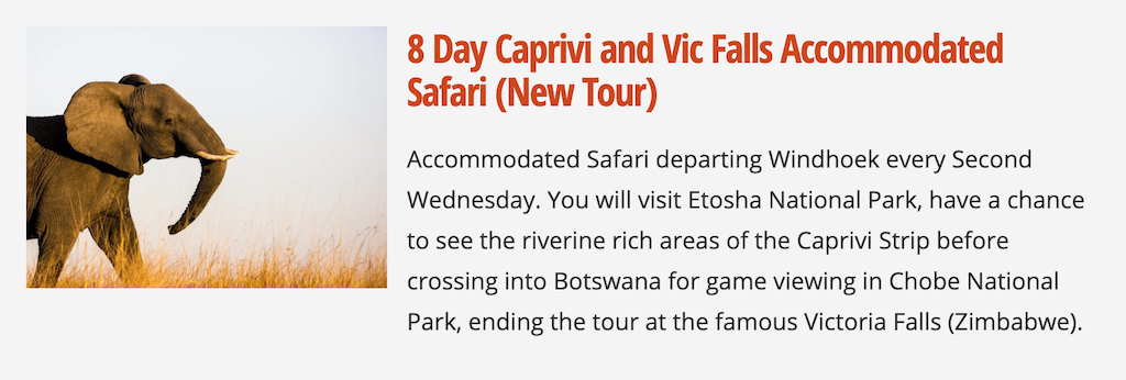 8 Day Caprivi and Victoria Falls Accommodated Wild Dog Safaris Tour