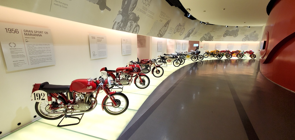 Ducati Museum and Factory Tour - Bikes Over The Years