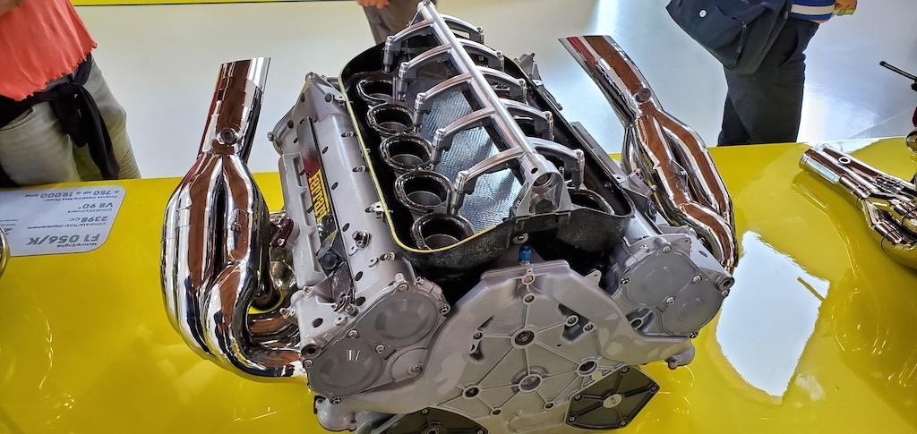 Enzo Ferrari Museum engine