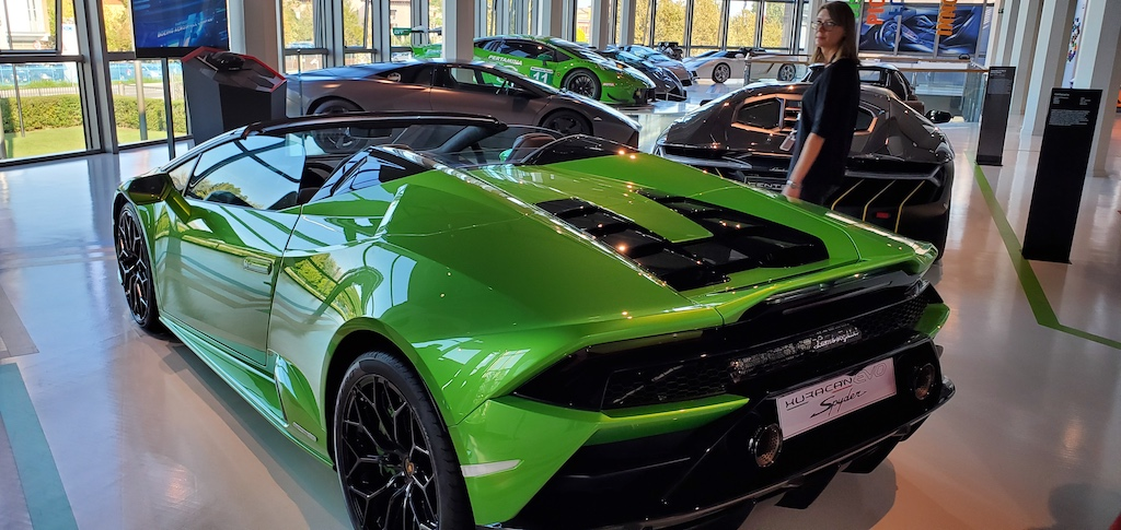 Lamborghini Factory Tour and Museum Showroom Floor