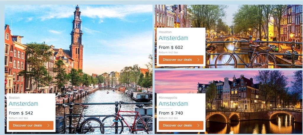 KLM Black Friday 2019 Travel Deals