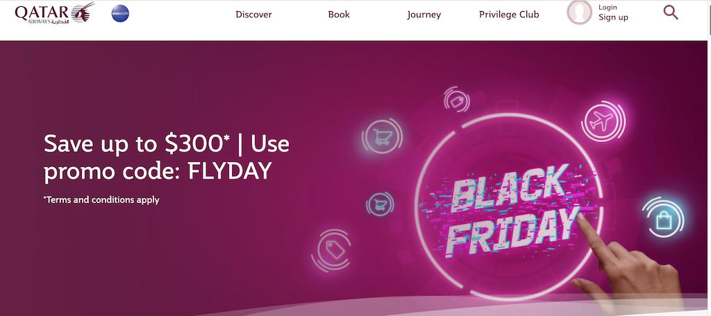 Qatar Airways Black Friday Travel Deals